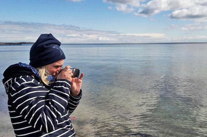 Fotografieren am Südstrand auf Fehmarn