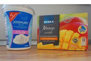 Lassi Zutaten Joghurt Obst gefroren