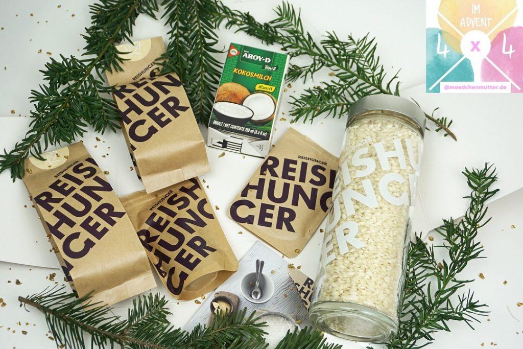 Reishunger Milchreis Box mit Reisglas 4 x 4 im Advent