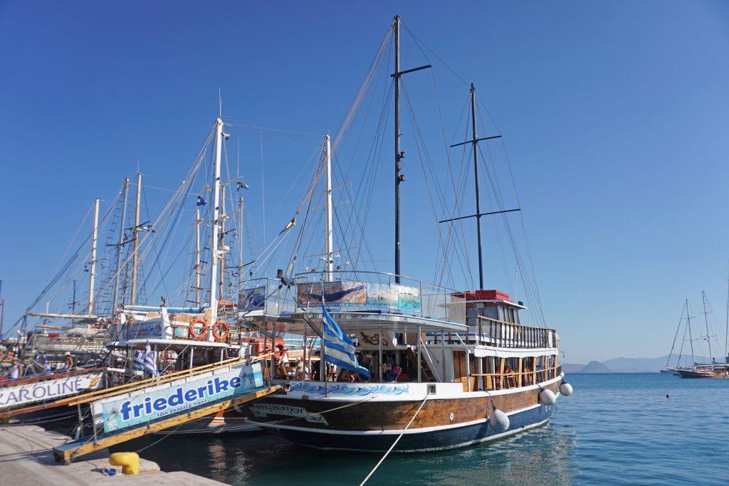 Friederike Boot Kos Stadt Hafen
