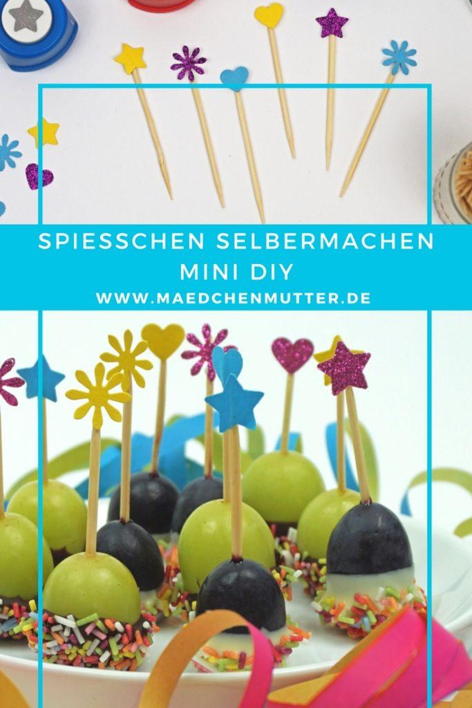Spießchen für Partys selbermachen Mini DIY