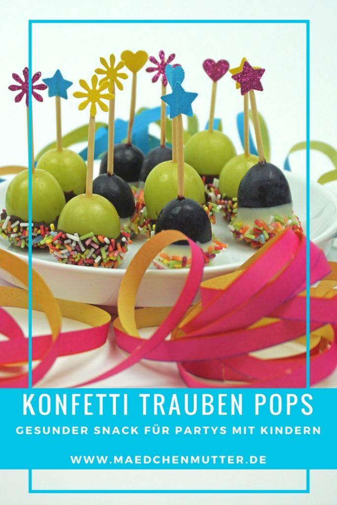 Konfetti Trauben Pops für Partys mit Kindern gesunder Snack