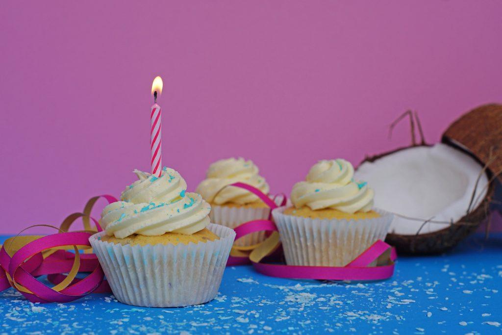 Cupcake-Kerze-Kokos Bettys Sugar Dreams