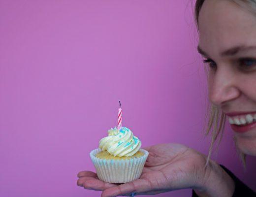 Cupcake-auspusten