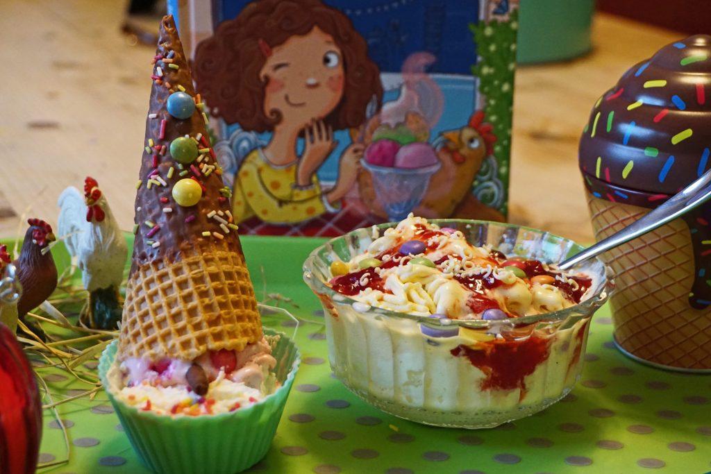 Der-zauberhafte-Eisladen-Clowneis Spaghettieis Kinder