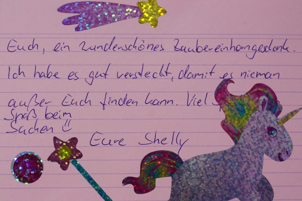 Einhorn-Brief-Schatzsuche