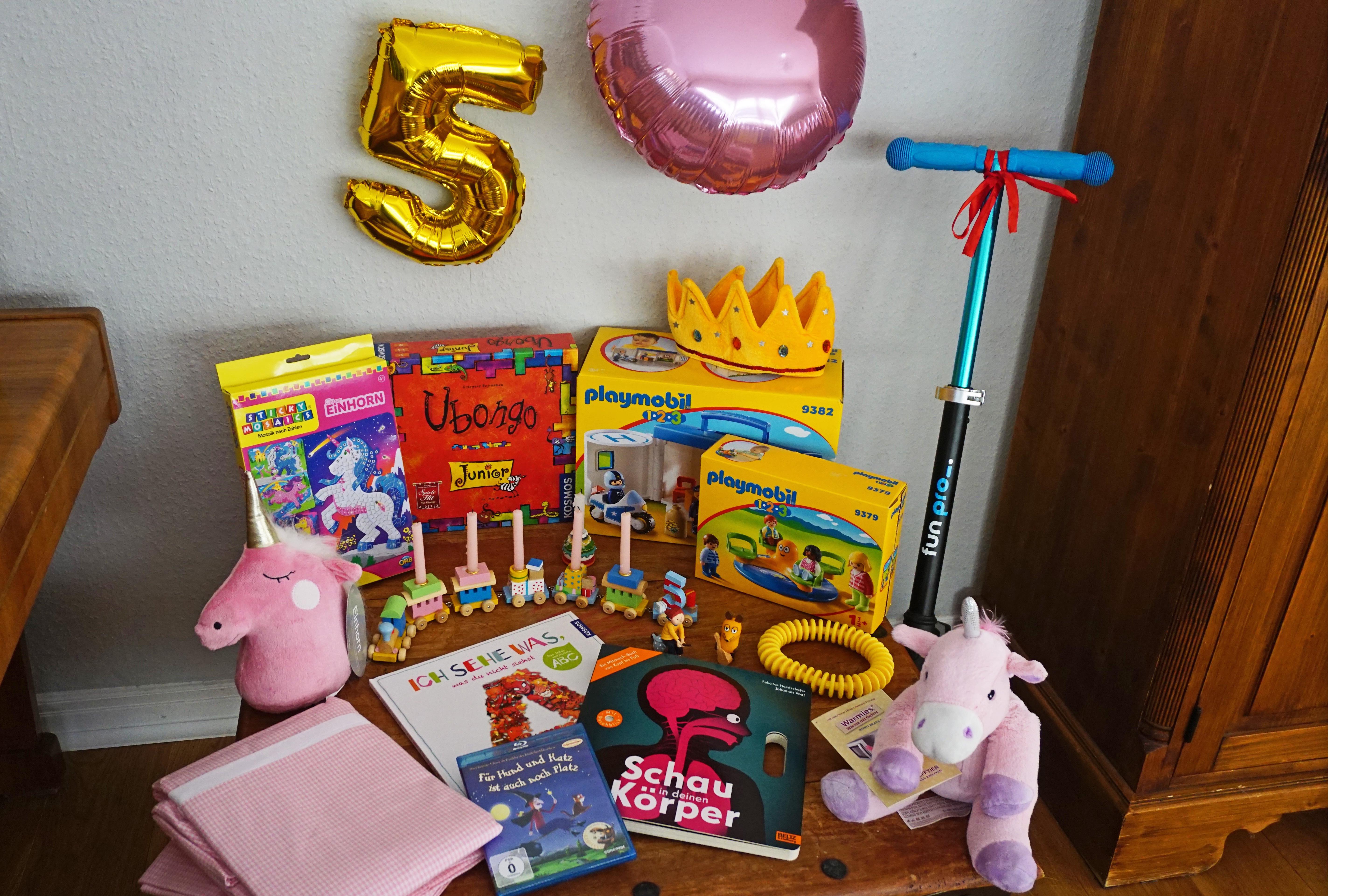 Schöne Geschenke zum 5. Geburtstag - Mädchenmutter