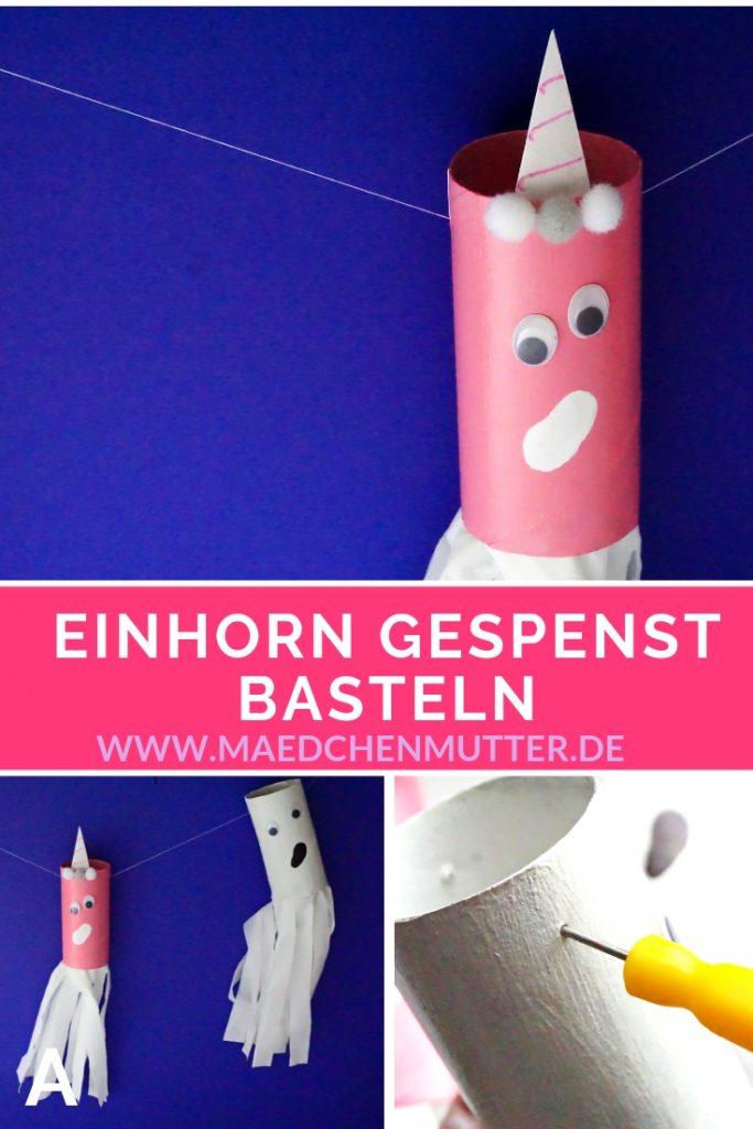 Einhorn-Geist-Gespenst-Girlande-DIY-Basteln-Halloween-Gespensterparty Geisterparty