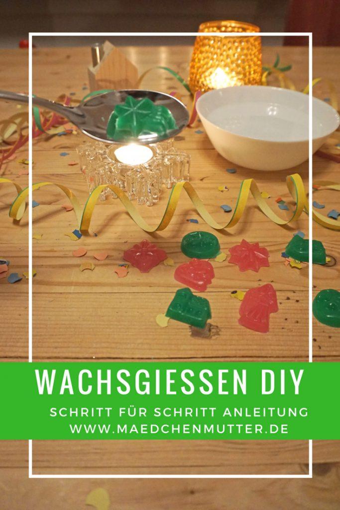 Wachsgiessen Silvester Kinder DIY Selbermachen nachhaltig