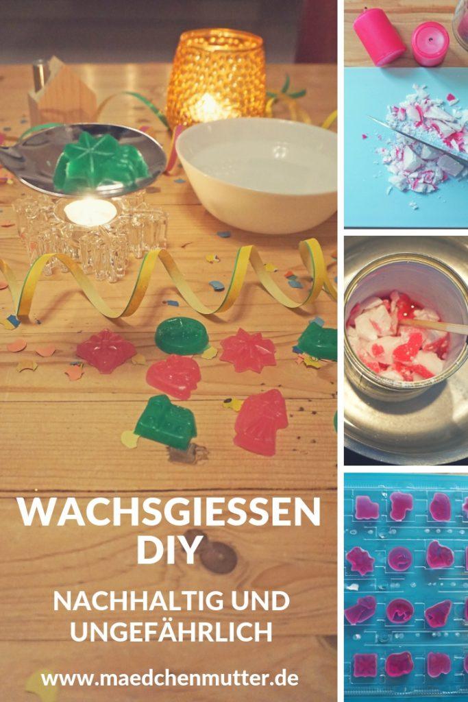 Wachsgiessen Silvester Kinder DIY Selbermachen nachhaltig Anleitung
