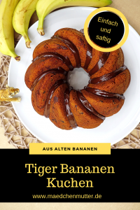 Tiger Bananen Kuchen backen