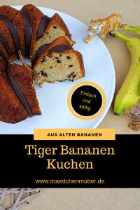 Tiger Bananen Kuchen backen Anschnitt