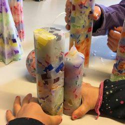 Kerzen giessen ziehen Tyboron Daenemark Mosaik Urlaub Kinder
